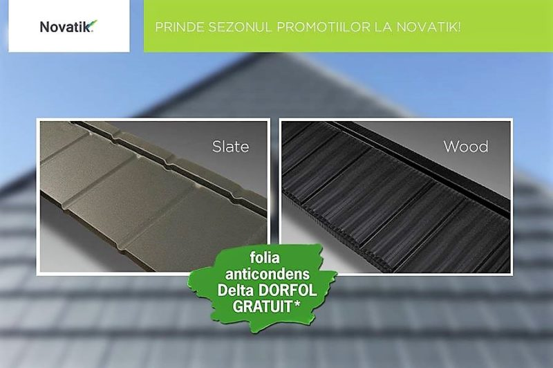 Promotie Novatik Slate si Wood